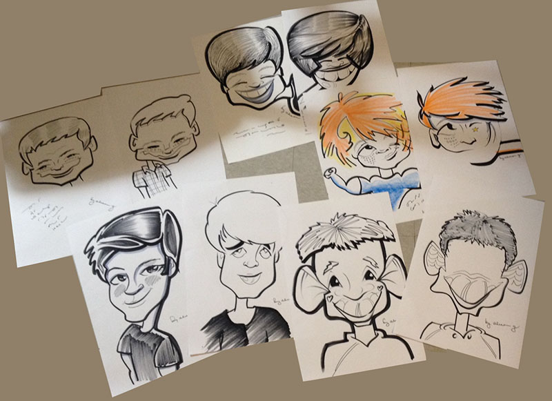 10 year old boys | Caricatures By Alison Gelbman